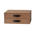 NAHAM cardboard paper organizer storage box with two drawer