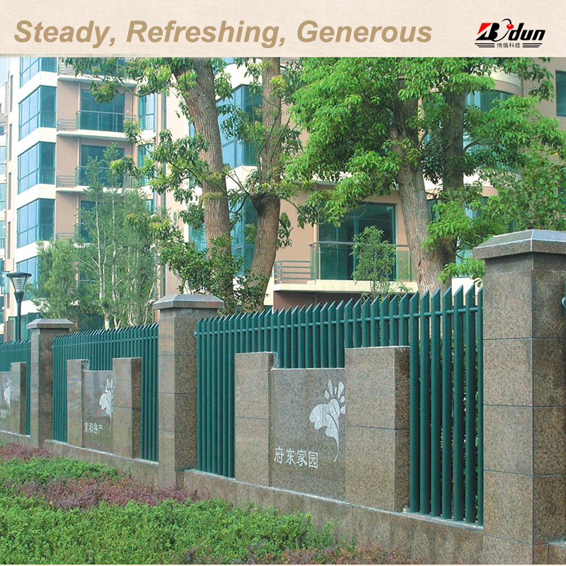 Garden fence & metal fence posts & galvanized steel fence panels