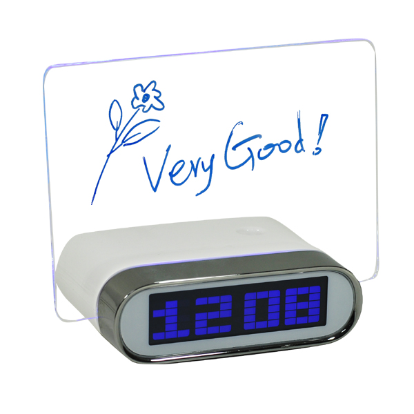 Memo Board Large LED Digital Clock with USB Hub for Computer