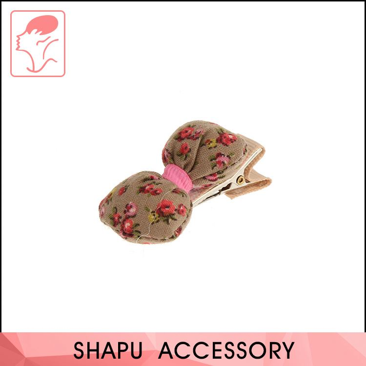 New selling hair accessories fancy fabric hairgrips metal baby girls hairpins hair clips