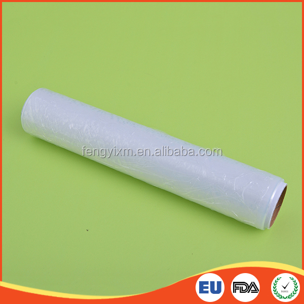 Clings tight commercial catering size transparent plastic shrink wrap for food
