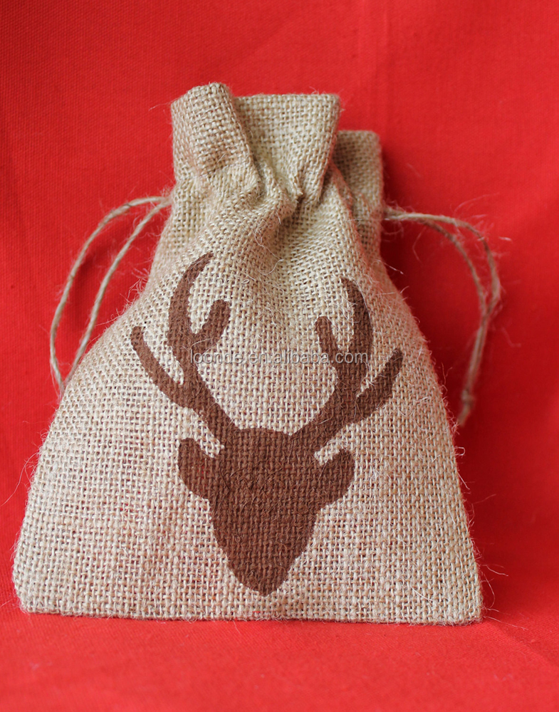 Cute Merry Christmas Sacks Large Burlap Christmas Bags to Carry Gifts for Children