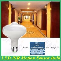 Wholesale E27 LED PIR Motion Sensor Auto Lamp Bulb Infrared Energy Saving Light 12w
