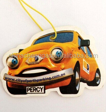 Car shaped New Car scented car air freshener printing paper
