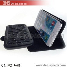 Bluetooth Wireless Mini Keyboard Flip Stand PU Leather Case for iPhone 6 4.7 inch