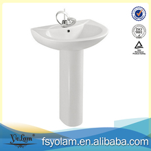 Classical pedestal wash hand basin