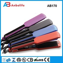 Anbo different color hair flat iron electric hair straightener ceramic coating