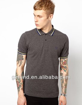 custom make 95%cotton and 5%spandex high quality men polo shirt