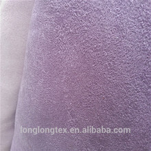 good quality microfiber sherpa fleece bonding with suede fabric With Good Quality
