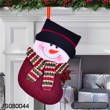 Christmas stocking hanging, with Snowman design, for putting gift