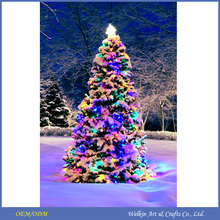 CE approved lighted christmas tree led canvas wall art prints