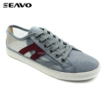 SEAVO SS17 innovation lucency grey men's casual lace up light up custom design skate board shoes