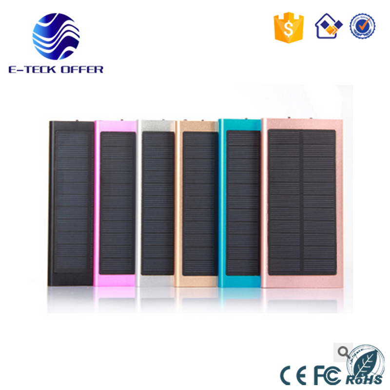 Solar Cellphone charger 20000mah Solar Power Bank with Dual USB