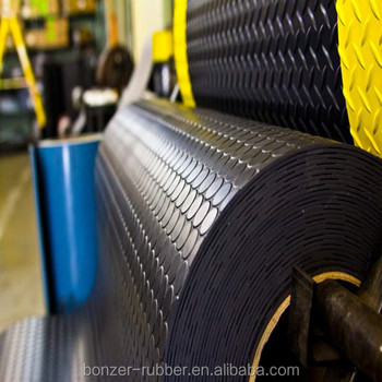 Circular Stud rubber matting manufacture in china