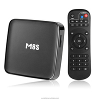New Smart TV Box M8S Full 4K HD Media Player 1080p Amlogic S812 Bluetooth4.0 Support H.265 Android4.4 TV Box Quad Core box