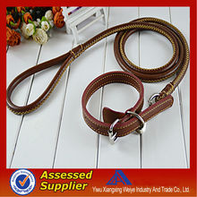 wholesale leather collar and leather dogs leash