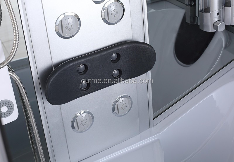 Autme new design hot sale sliding complete steam shower room with led lighe