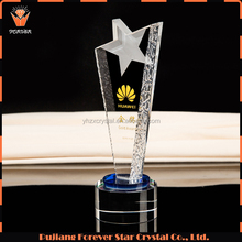 wholesale custom champions league clear crystal trophy