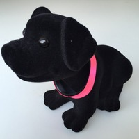 Flocked PVC Bobble head toy dog