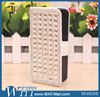 Shiny Diamond Leather Case for iPhone 5S/ 4S, Flip Rhinestone Phone Case