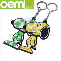 cheap and fine custom pvc keychain 2d custom shaped soft pvc keychain