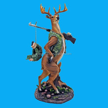 lovely polyresin deer figurines statue gift craft for sale