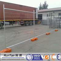 Metal temporary fencing panel