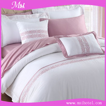 China guangzhou manufacture OEM fashion design cheap hotel bed linen