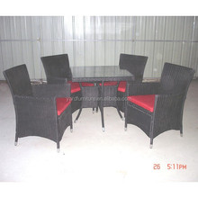 UV Resistant Restaurant dining furniture outdoor garden Rattan wicker Furniture