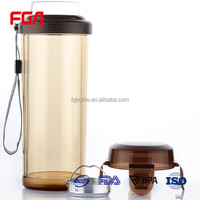 high borosilicate custom design plastic glass water drink bottle with tea filter