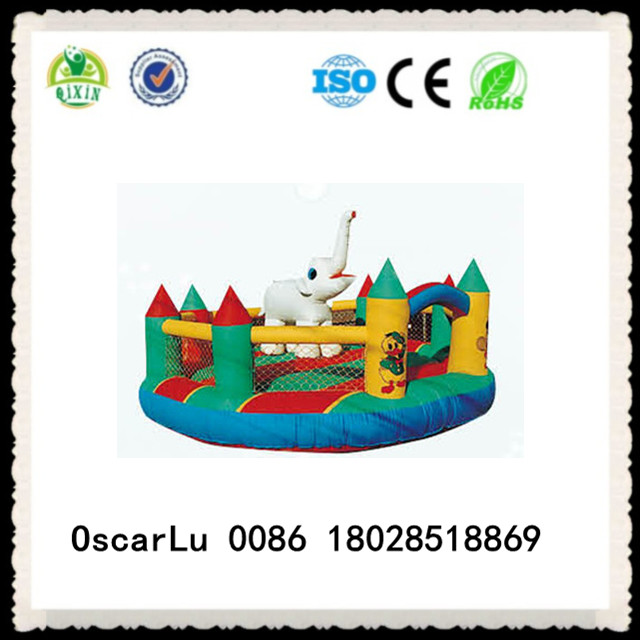 interesting elephant inflatable castle best price jumping inflatable castle for kids for sale (QX-18125B)