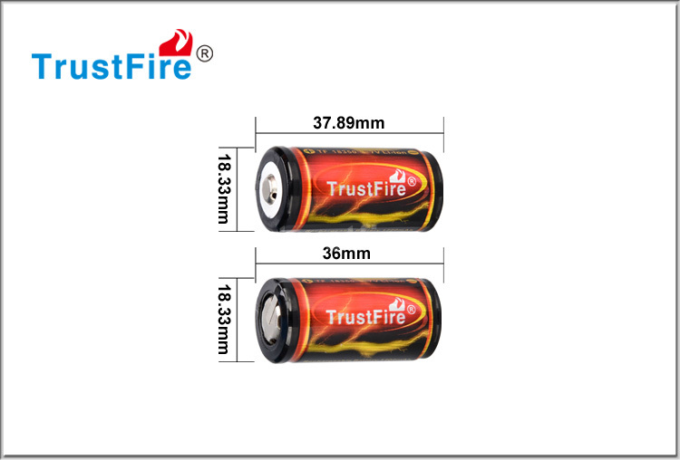 Trustfire 18350 1200mah battery,rechargeable lithium battery with PCB,li-ion battery 3.7v