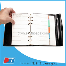 2014 agenda pu leather spiral notebook