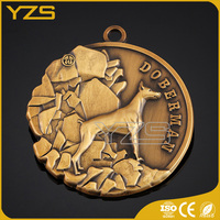 brass material engraved pet id dog tags for medical use