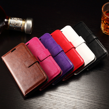 Leather case For Sony Xperia Z4 mini, Leather Cover Crazy Horse Wallet Stand Photo Card Slot Flip Case