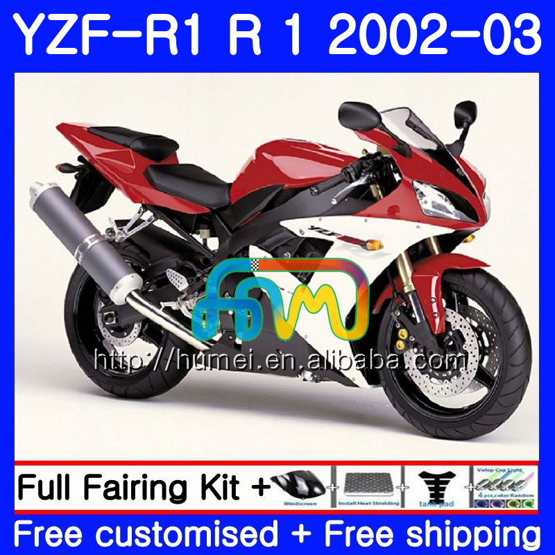 Body For YAMAHA YZF 1000 red black YZFR1 <strong>02</strong> <strong>03</strong> YZF-1000 Bodywork 99HM30 YZF R 1 YZF <strong>R1</strong> <strong>02</strong> <strong>03</strong> YZF1000 YZF-<strong>R1</strong> 2002 2003 <strong>Fairing</strong>