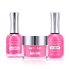 Water based nail polish, Pink Color Matching Dip Powder with Gel Polish and Nail Lacquer