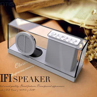 Portable wireless bluetooth crystal speaker