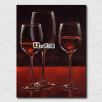 Hot selling wine glass painting pictures