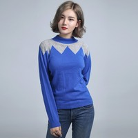 Pure cashmere winter warm light weight women turtle neck pullover sweater