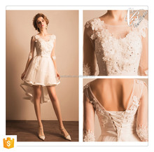 Christmas Promotion Sexy Pink Beaded Lace Party Dress of Front Short Back Long Evening Dresses Special Occasion Prom Dress