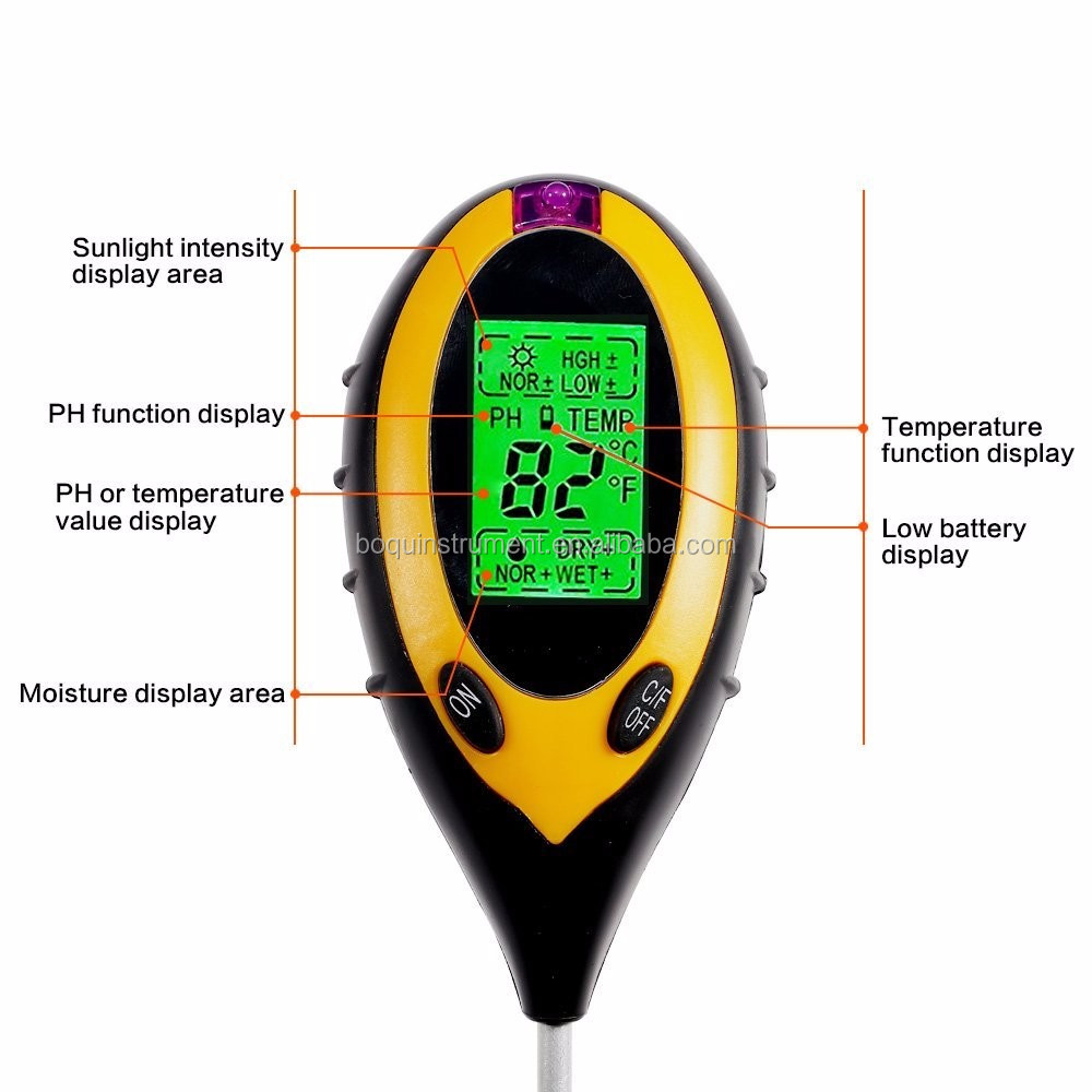 BQ-300 digital ph soil meter 4 in1 Soil Tester