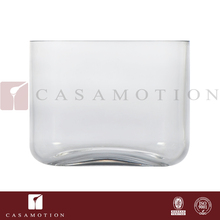 Factory Supply Casamotion Small Oblong Clear Blown Modern Natural Acrylic Glass Vases for Centerpiece