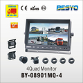 Vehicle reversing 4 quad reversing monitor BY-C08901MQ-4