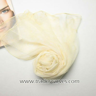 Pure white long 100 silk georgette wholesale long scarf