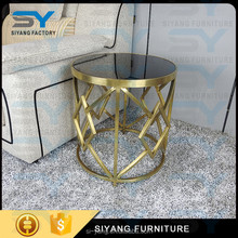 Environmentally Friendly Modern Studio Collection Classic Cube Round Side Table for Magazines, Books & Plants JJ017