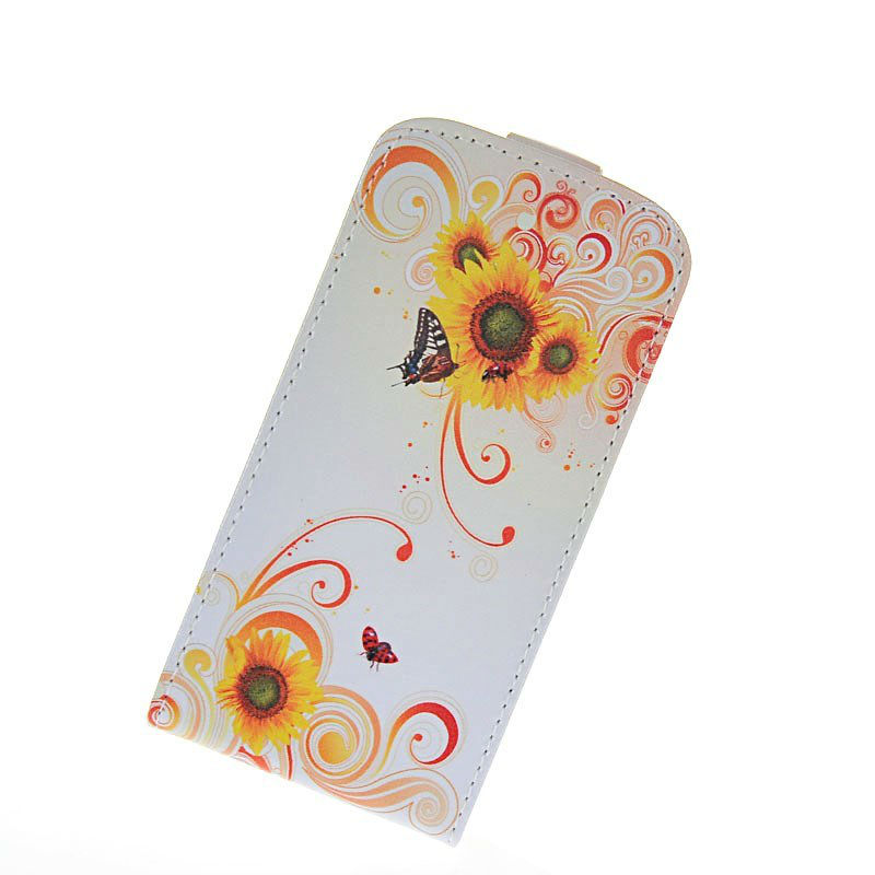 Customized Flip leather cell phone case cover for Samsung Galaxy S3 mini i8190