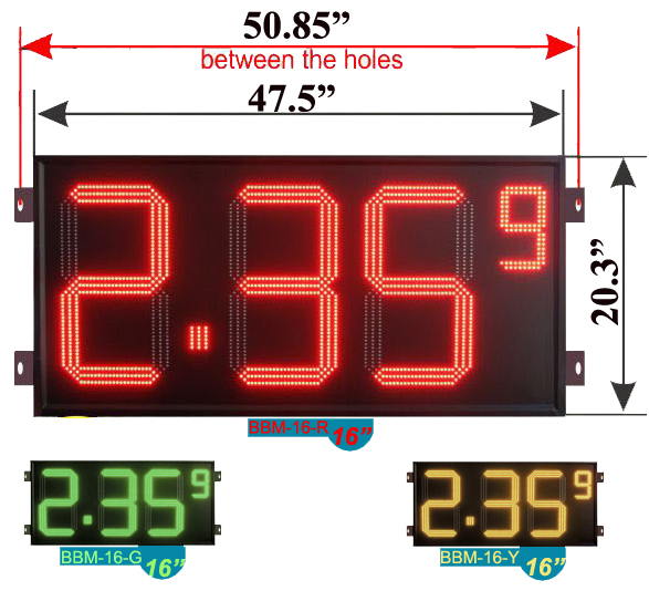 large one side led gas price display for outdoor