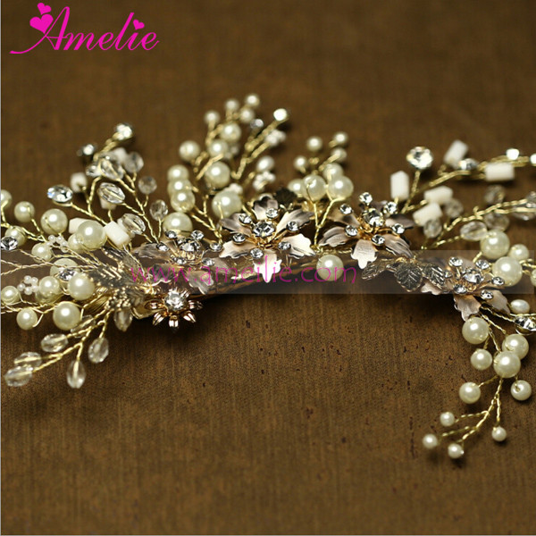 Painted Flower and Pearl Princess Hair Clip Wedding Hair Accessories Bride Wedding Jewellery