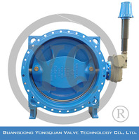 "Resilient Seal Underground Double Eccentric Flange Butterfly Water Valve Manufactured in China, DN 8""-120"", PN 1.0/1.6/2.5 MPa"